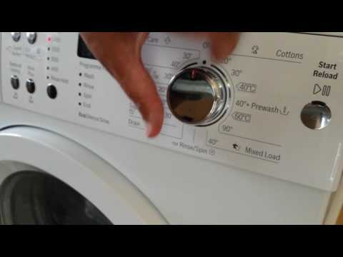 Spin Only on Bosch VarioPerfect washing machine  WAQ283S1GB_WH