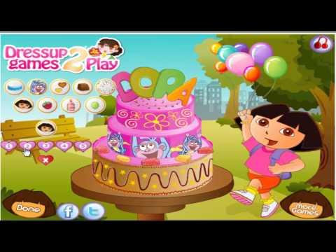 Dora The Explorer - Birthday Cake Decor Game Adventure HD hola