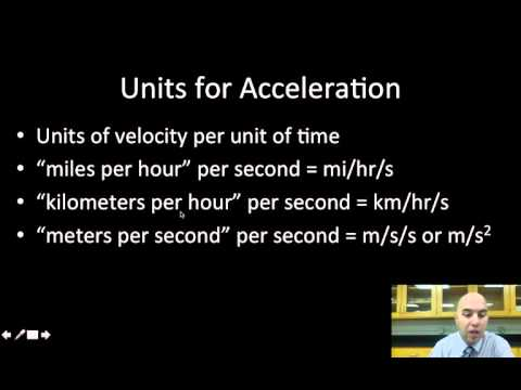 Calculating Average Acceleration