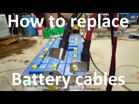 How to replace forklift battery cables