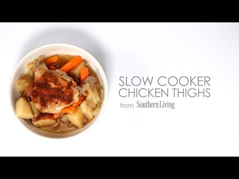How to Make Slow-Cooker Chicken Thighs | MyRecipes