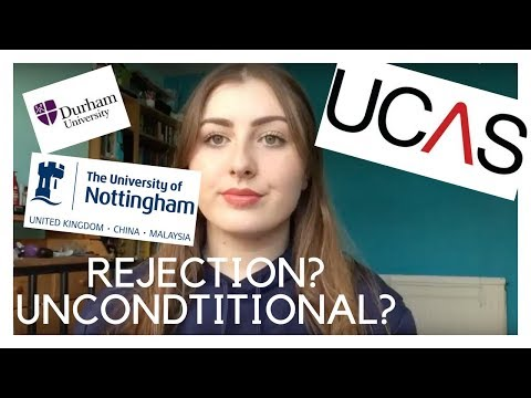 UCAS/Uni Application Experience | REJECTION, UNCONDITIONAL, CHOOSING A COURSE