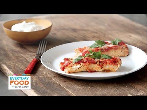 Homemade Chicken Enchiladas - Everyday Food with Sarah Carey