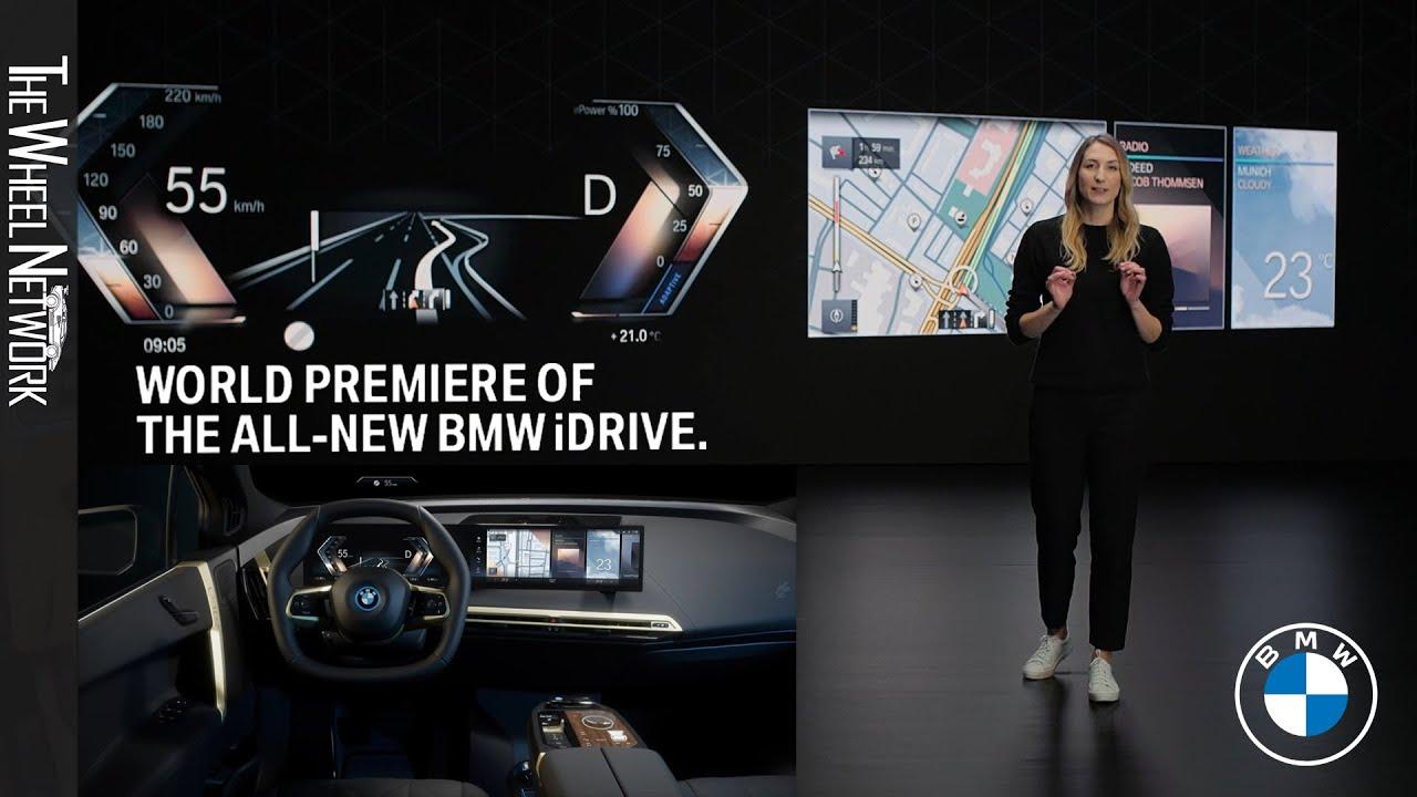 The All-new BMW iDrive Reveal (2022 BMW iX Interior)