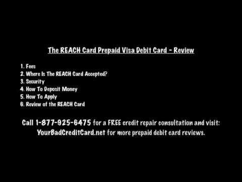 The REACH Card Prepaid Visa Debit Card - Review