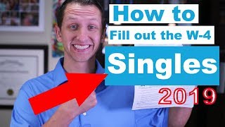 How to fill out the W-4 2019 for Singles