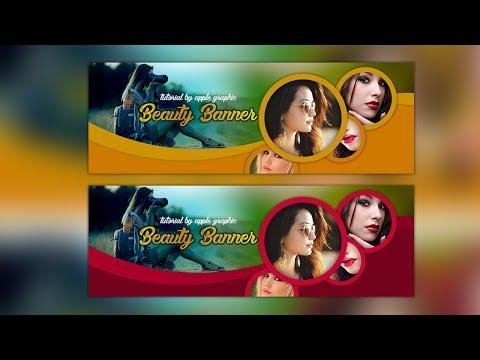 Stylish Web Banner Design for Beauty - Photoshop Tutorial