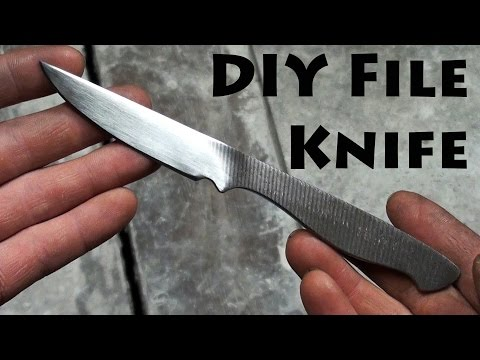 Making a Simple DIY Knife from a File No Forge Needed