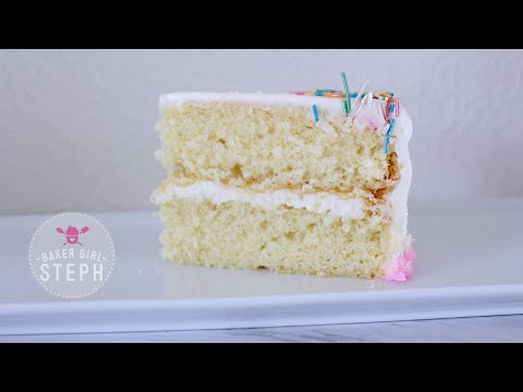 HOW TO MAKE VANILLA CAKE BATTER || BAKER GIRL STEPH