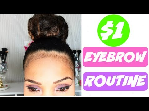 $1 EYEBROW ROUTINE!! || How To Clean Up, Shape and Fill In Eyebrows For Cheap!