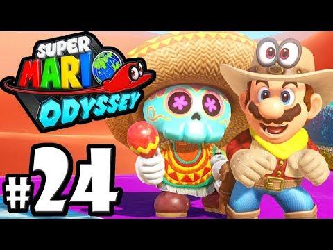 Super Mario Odyssey - Switch Gameplay Walkthrough PART 24: Sand Kingdom Moons - Bowser amiibo Coins