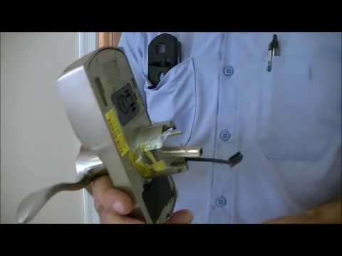 How to install a keyless coded entry door knob. Schlage
