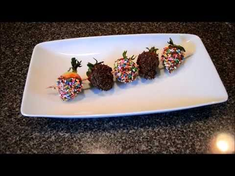 Valentine's Day Chocolate Dipped Strawberries.  A HOW TO for MEN