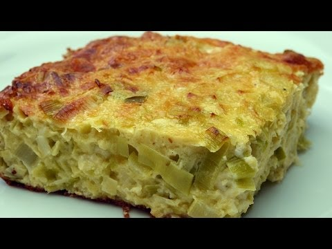 Easy and Delicious Cheese Leek Tart Recipe