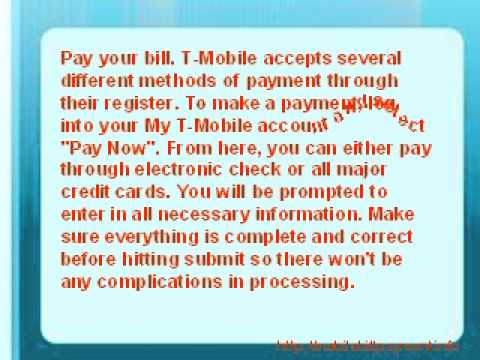 How to Make T-Mobile Payment Online?