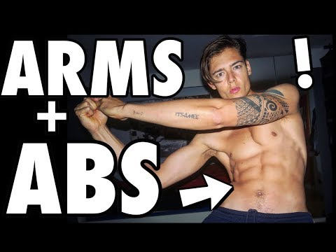 5 MIN SIX-PACK AND ARM WORKOUT! Quick and Easy ABS!