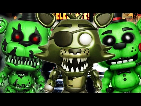 Five Nights at Freddy's: EXCLUSIVE GLOW IN THE DARK ANIMATRONICS + PHANTOM FOXY