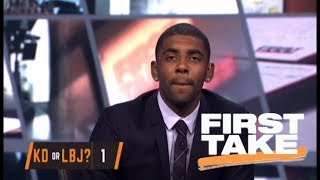 Kevin Durant over LeBron James is a tough question for Kyrie Irving | First Take | ESPN