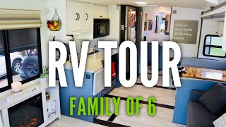 RV TOUR // Family of 6 Living in a Remodeled Class A Motorhome