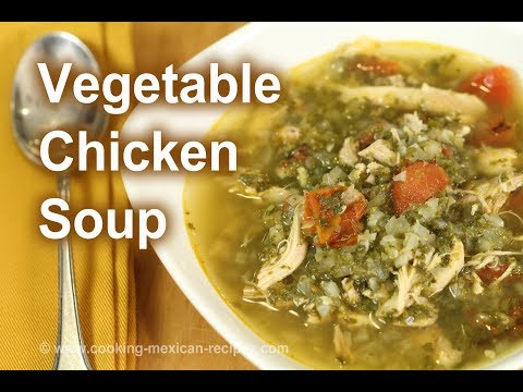 Easy Homemade Vegetable & Chicken Soup | Healthy & Delicious | Rockin Robin Cooks