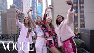 The Victoria's Secret Angels' Plaza Hotel Sleepover | Vogue