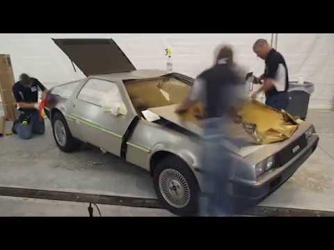 3M Gold DeLorean Car Wrap