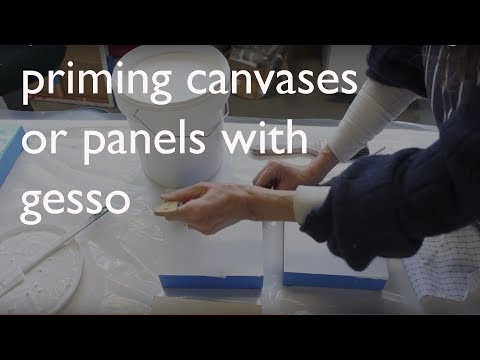 Priming Art Canvas or Panels with Gesso