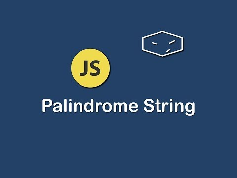 palindrome string in javascript