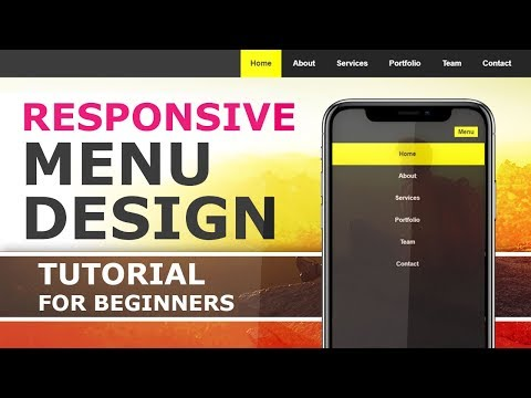 Responsive Menu with HTML CSS and javascript - How To Create a Responsive Navigation Menu - Tutorial