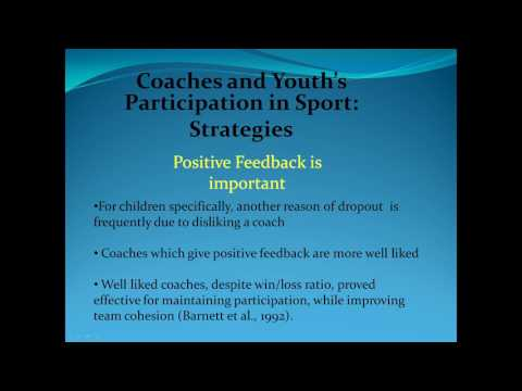 Coaching Strategy Increasing Intrinsic Motivation in Youth Sport