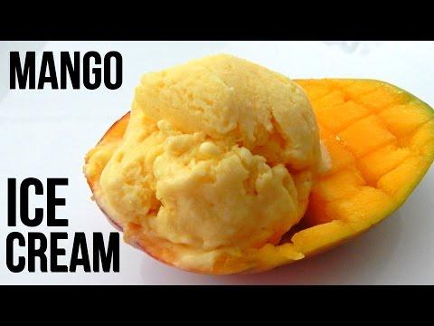 Homemade MANGO ICE CREAM (4 Ingridients!) - Inspire To Cook