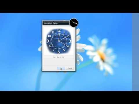 Simple yet Elegant Gerz Clock Windows 7 Gadget