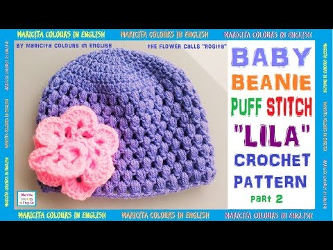 Baby Beanie with  Puff Stitch