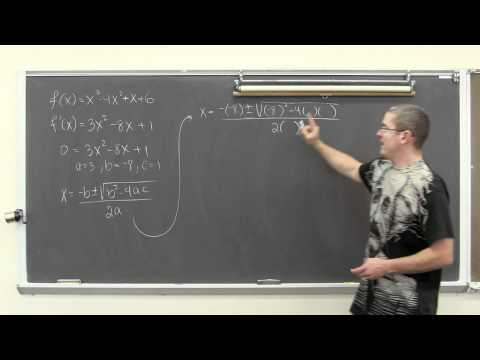 Horizontal Tangent Lines and Differentiation