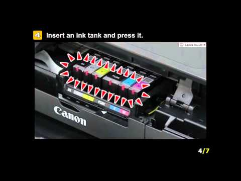PIXMA MG7520: Installing the ink tanks