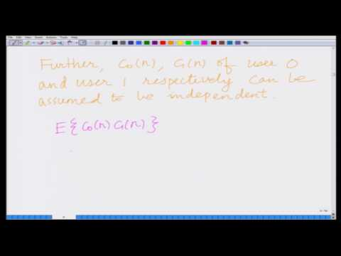 Lecture 31: Analysis of Multi-user CDMA
