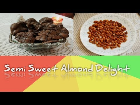 Semi Sweet Almond Delight | Easy Almond Clusters | Chocolate Clusters In Minutes