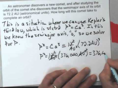 Calculation With Kepler's Third Law