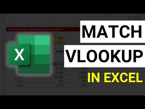 Match with Vlookup formula in Excel | Excel Formulas