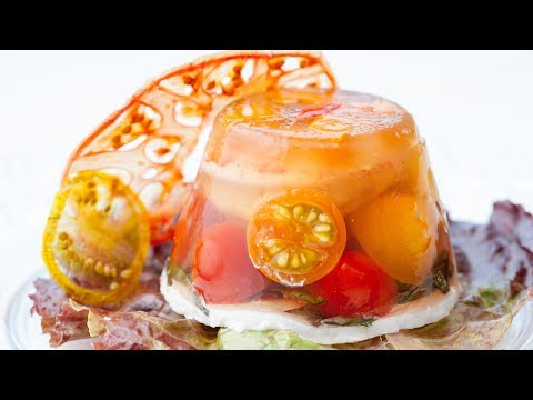 Shrimp Tomato Goat Cheese Aspic - How to make Aspic