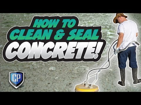 How To Clean & Seal Concrete