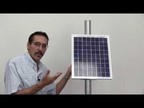 Missouri Wind and Solar Shows Solar side of the pole mount and hybrid