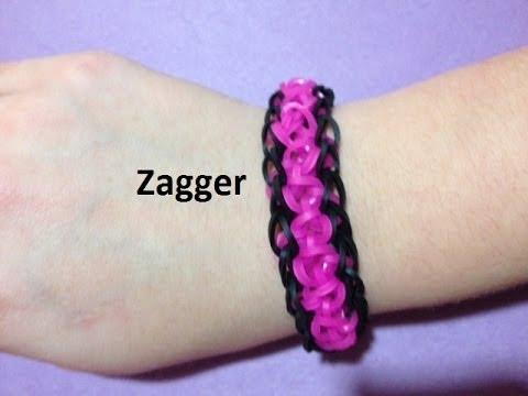 How to Make a Zagger Bracelet on the Rainbow Loom - Original Design