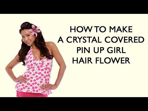 How To Make A Flower Hair Pin