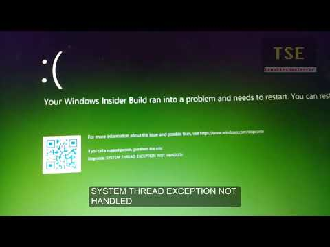 Automatic repair failed with stop code SYSTEM SERVICE EXCEPTION Windows 10