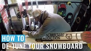 How To De-Tune Your Snowboard