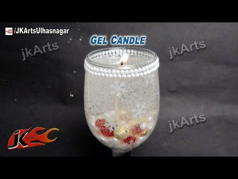 How to make Gel Candle for Christmas | JK Arts 461