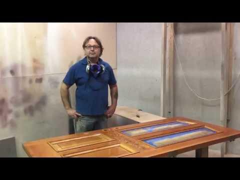 refinishing pine doors