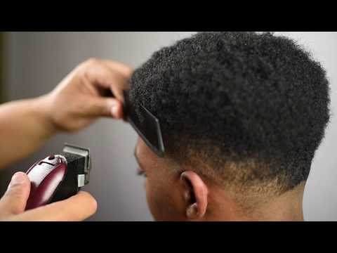 BARBER TUTORIAL | TAPER FADE with CURLY FRO | NAPPY FRO