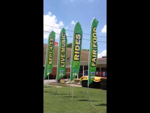 Custom Feather Flags for Delta Fair, Festivals, Food Events